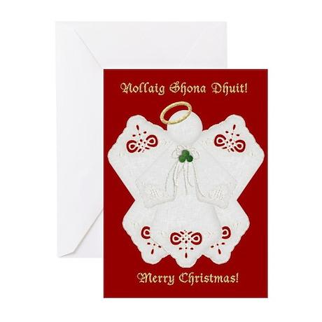 Irish Lace Angel Christmas Cards (10)
