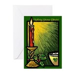 Candle and Bowl Christmas Cards (10)