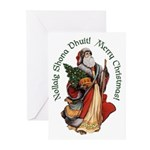 Santa (Irish & English) Christmas Cards (10)