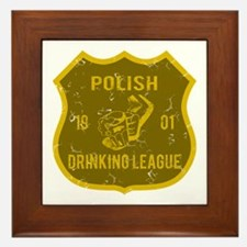 Polish Drinking League Framed Tile
