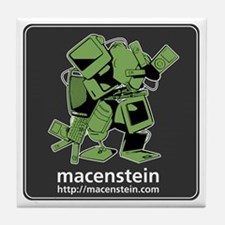 Macenstein - green logo Tile Coaster