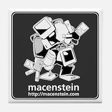 Macenstein - b&w logo Tile Coaster