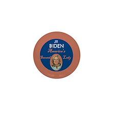 Jill Biden Second Lady Mini Button