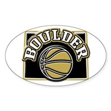 Boulder Basketball Oval Decal