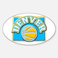 Denver Basketball Oval Decal