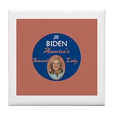 Jill Biden Second Lady Tile Coaster