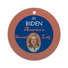 Jill Biden Second Lady Ornament (Round)