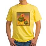 Buff Brahma Chickens Yellow T-Shirt