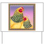 Buff Brahma Chickens Yard Sign