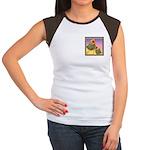 Buff Brahma Chickens Women's Cap Sleeve T-Shirt