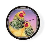 Buff Brahma Chickens Wall Clock