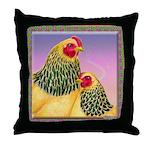 Buff Brahma Chickens Throw Pillow
