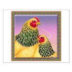 Buff Brahma Chickens Small Poster