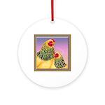 Buff Brahma Chickens Ornament (Round)