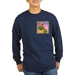 Buff Brahma Chickens Long Sleeve Dark T-Shirt