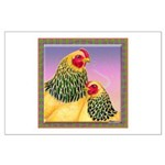 Buff Brahma Chickens Large Poster