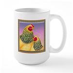 Buff Brahma Chickens Large Mug