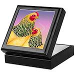 Buff Brahma Chickens Keepsake Box
