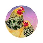 "Buff Brahma Chickens 3.5"" Button"