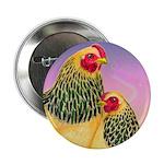 "Buff Brahma Chickens 2.25"" Button"