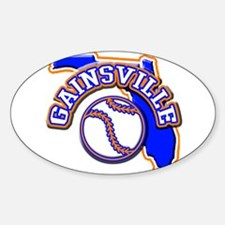 Gainsville Baseball Oval Decal