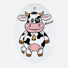Mooo Cow Oval Ornament