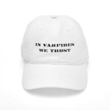 In vampires we trust Baseball Cap