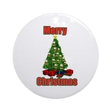 Merry christmas beer tree Ornament (Round)
