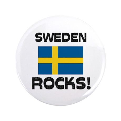 """Sweden Rocks! 3.5"""" Button"""