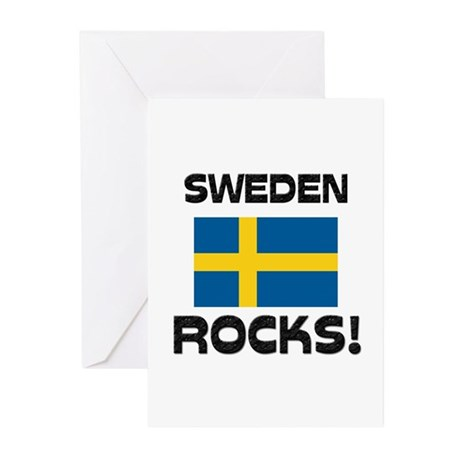 Sweden Rocks! Greeting Cards (Pk of 10)
