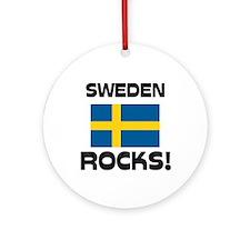 Sweden Rocks! Ornament (Round)