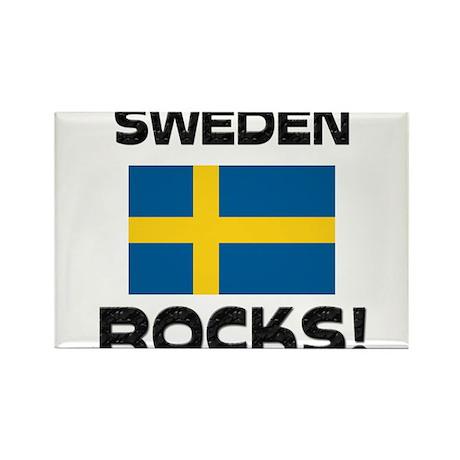 Sweden Rocks! Rectangle Magnet