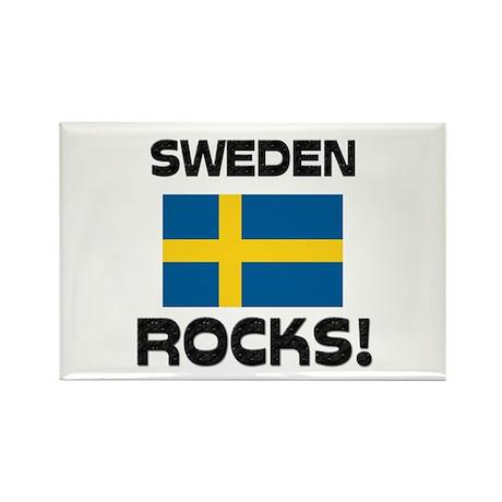 Sweden Rocks! Rectangle Magnet (10 pack)