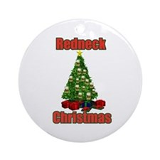 Redneck beer christmas tree Ornament (Round)