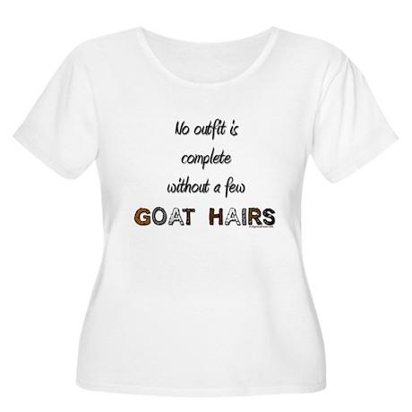 Goat hairs Women's Plus Size Scoop Neck T-Shirt
