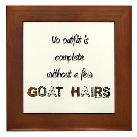 Goat hairs Framed Tile