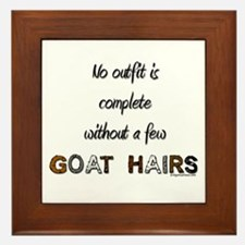 Goat hairs Framed Tile
