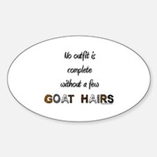 Goat hairs Oval Decal