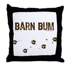 Barn bum Throw Pillow