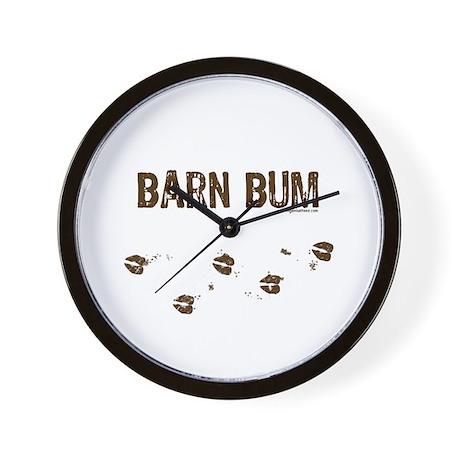 Barn bum Wall Clock