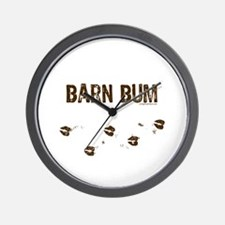 Barn bum Wall Clock