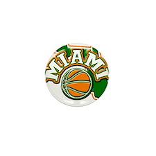 Miami Basketball Mini Button