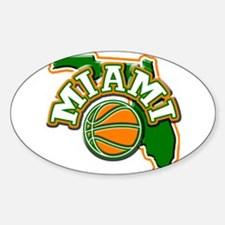 Miami Basketball Oval Decal