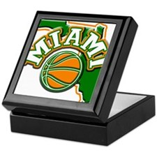 Miami Basketball Keepsake Box