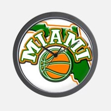Miami Basketball Wall Clock