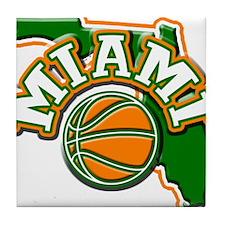 Miami Basketball Tile Coaster