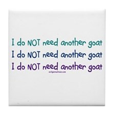 Another goat, funny Tile Coaster