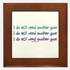 Another goat, funny Framed Tile