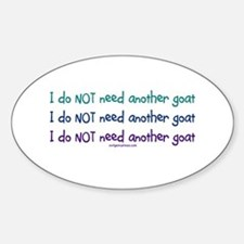 Another goat, funny Oval Bumper Stickers
