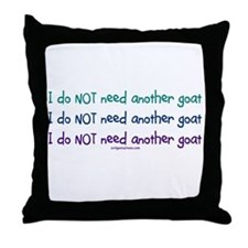 Another goat, funny Throw Pillow